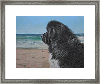 Satchel By The Sea Framed Print