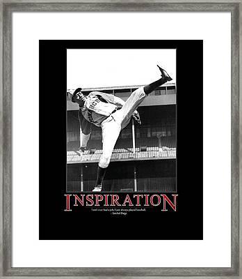 Satchel Paige Inspiration Framed Print