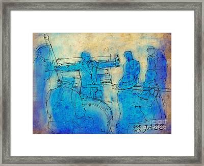 Satchmo And Billie Framed Print by Pablo Franchi