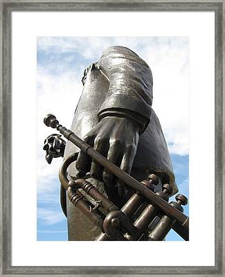 Framed Print featuring the photograph Satchmo by Beth Vincent