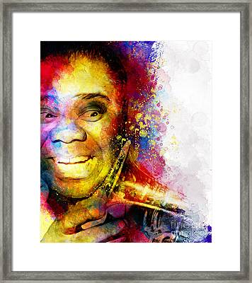 Satchmo Louis Armstrong Framed Print by Shanina Conway