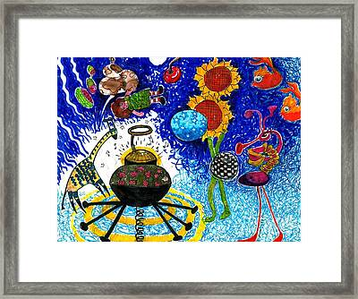 Satelite Critters Framed Print by Genevieve Esson