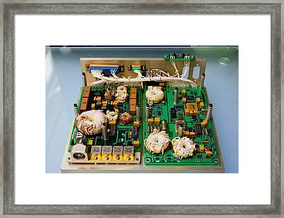 Satellite Circuit Boards Framed Print