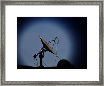Satellite Dish Framed Print by Marco Oliveira
