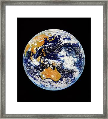 Satellite Image Of Australasia Framed Print by Kevin A Horgan/science Photo Library