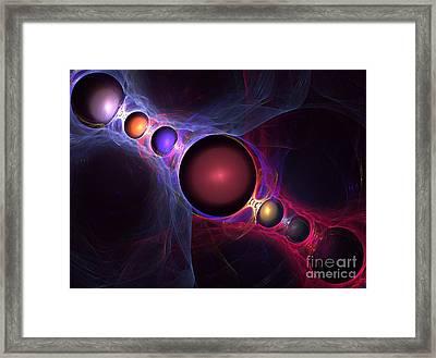 Satellite Framed Print by Kim Sy Ok