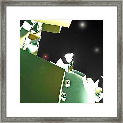 Satellite View Framed Print by First Star Art
