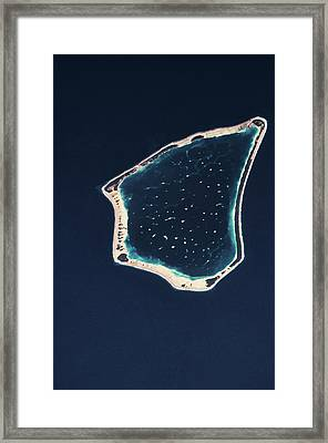 Satellite View Of A Group Of Islands Framed Print