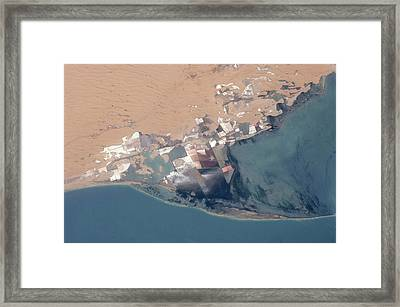 Satellite View Of Bardawil Lake, North Framed Print