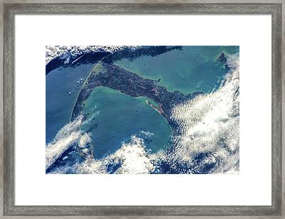 Satellite View Of Cape Cod National Framed Print