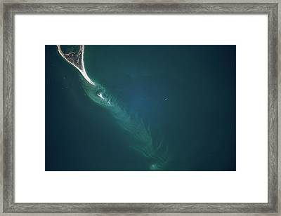Satellite View Of Cape Lookout Area Framed Print
