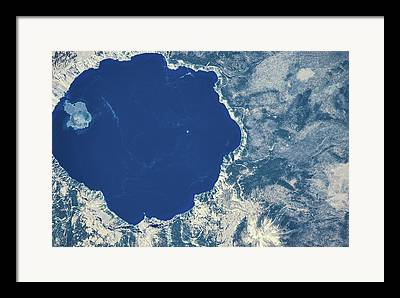 Crater Lake View Framed Prints