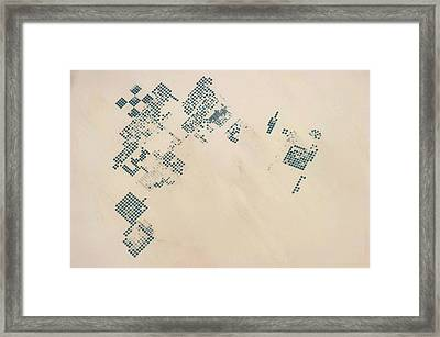 Satellite View Of Fields In North Framed Print
