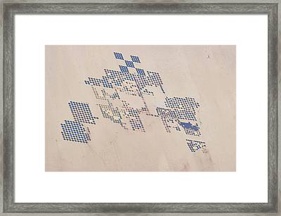 Satellite View Of Fields In Shamal Framed Print