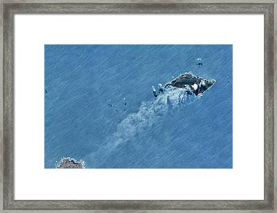 Satellite View Of Island Framed Print