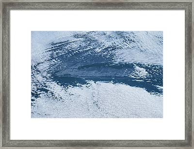 Satellite View Of Long Island, New York Framed Print