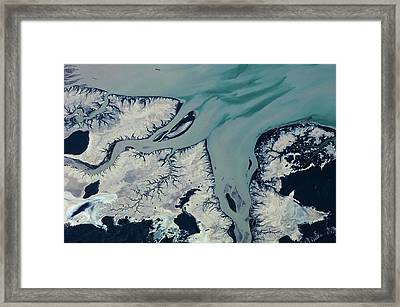 Satellite View Of Prince Regent River Framed Print