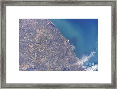 Satellite View Of St. Joseph Area Framed Print by Stocktrek Images