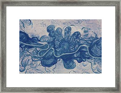 Satellite View Of Urai River, West Framed Print