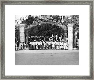 Sather Gate Confrontation Framed Print by Underwood Archives Thornton