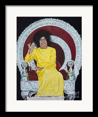 India Babas Paintings Framed Prints
