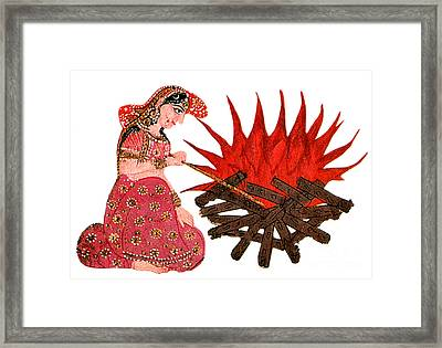 Sati, Hindu Goddess Framed Print by Photo Researchers