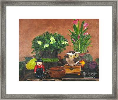 Satin And Woods Framed Print
