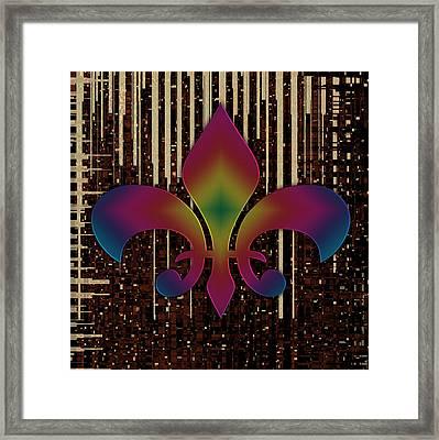 Satin Lily Symbol Digital Painting Framed Print by Georgeta Blanaru
