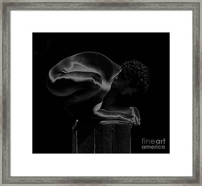 Framed Print featuring the photograph Satin Moment by Robert D McBain
