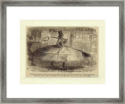 Satirical Cartoon Framed Print by New York Public Library