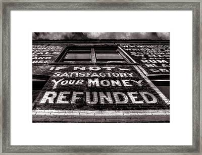 Satisfaction Guranteed Framed Print by Ken Smith