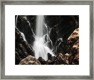 Satoddi Falls Close Look Framed Print