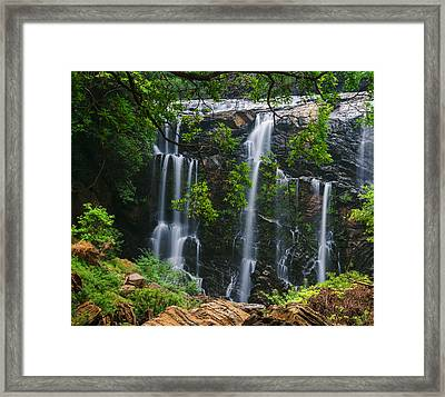 Satoddi Falls Through The Trees Framed Print