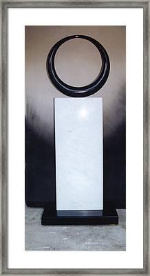 Satori Framed Print by Leslie Dycke