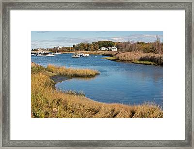 Satuit Brook Scituate Mass Framed Print by Gail Maloney