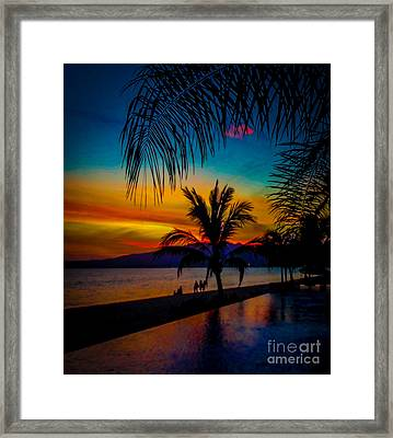 Saturated Mexican Sunset Framed Print by Charlene Gauld