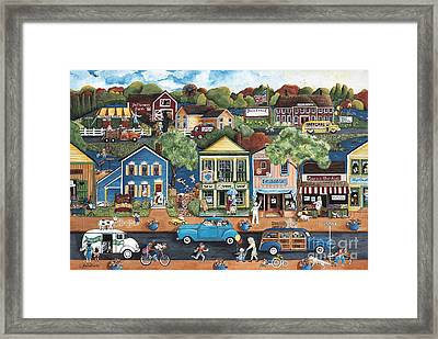 Saturday Afternoon In Judleville Framed Print by Judy Redder