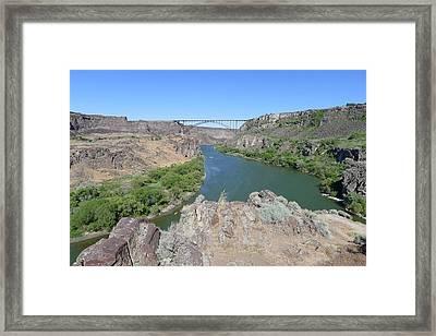 Saturday Afternoon Near The Snake River Bridge Framed Print by Joel Deutsch