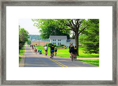 Saturday Bike Ride Framed Print by Tina M Wenger