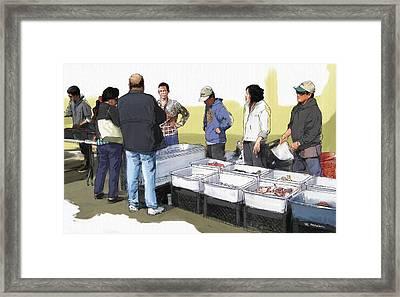 Saturday Fish Market Ventura Harbor Framed Print by RG McMahon