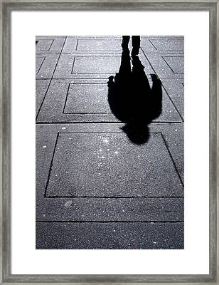 Saturday Morning In The Financial District Framed Print