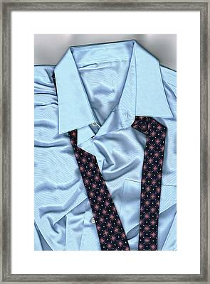 Saturday Morning - Men's Fashion Art By Sharon Cummings  Framed Print