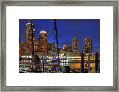 Saturday Night Boston Hustle Framed Print by Joann Vitali