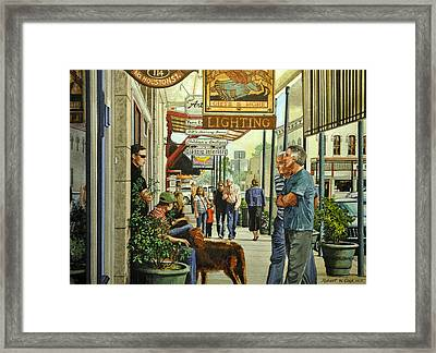 Saturday On The Square Framed Print