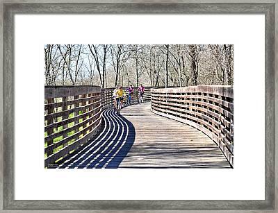 Saturday Riding Framed Print by Teresa Blanton