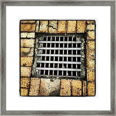 #saturdays #patterns #squares #bricks Framed Print