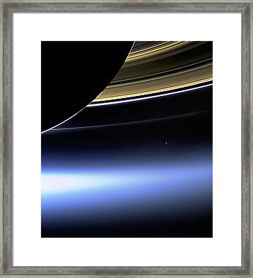 Saturn 2 Framed Print by Renee Anderson