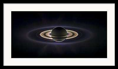 Enceladus Framed Prints
