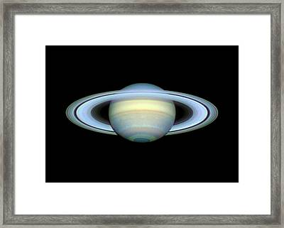 Saturn And Its Rings Framed Print by Damian Peach