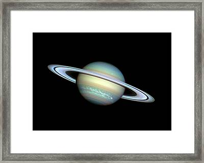 Saturn Framed Print by Damian Peach